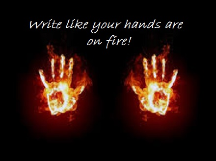 hands on fire+